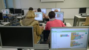 The workshop involved hands-on courses in AppInventor environment