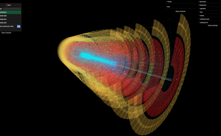 High Energy Physics Event Visualisation (CERN collaboration)